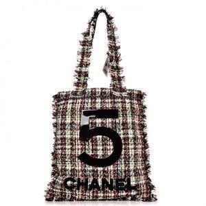 CHANEL Tweed N°5 Tote Multicolor